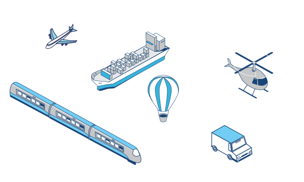 Beacons, drones, and printers used in IoT ready Logistics enterprise