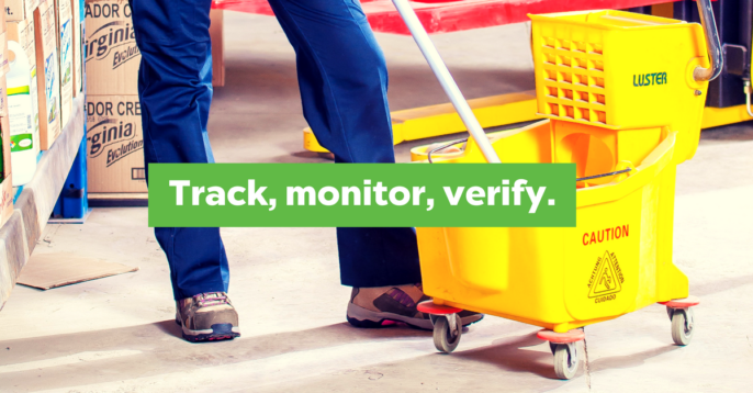 Facility Management and Cleaner Tracking Digitized with Bluetooth