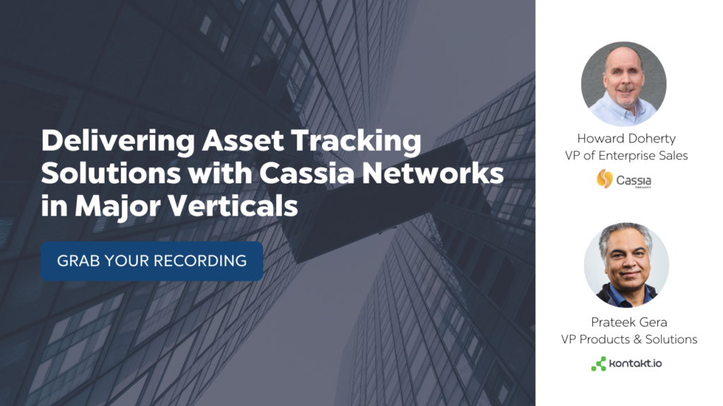 Cassia Networks Kontakt.io Webinar on Asset Tracking
