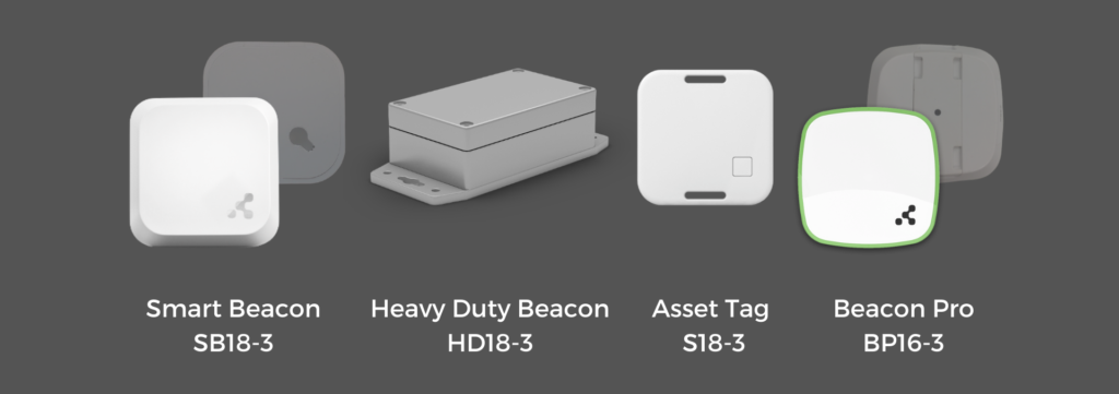 Beacons and tags mounting